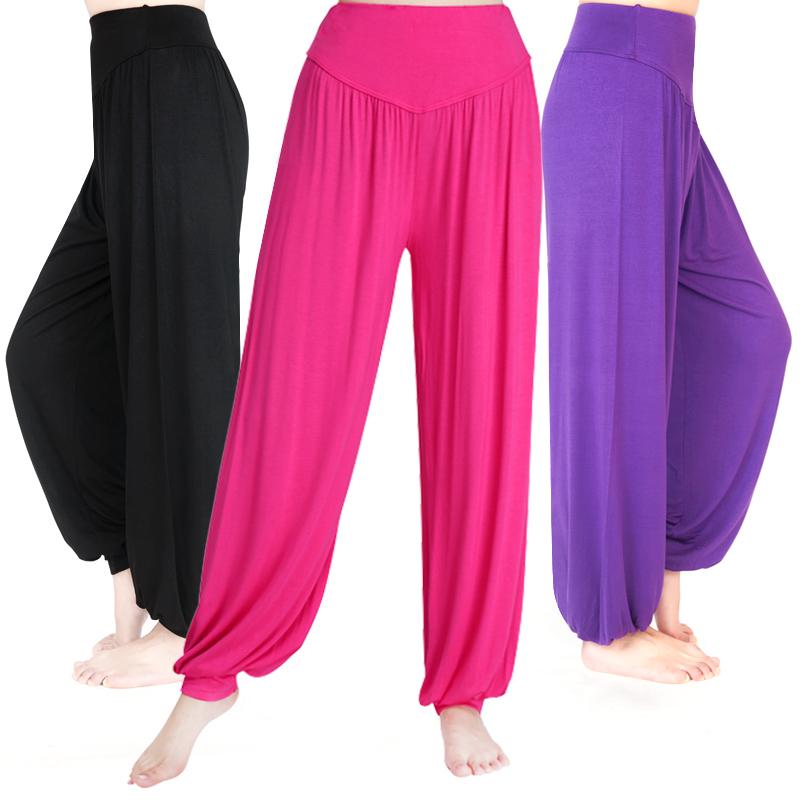 0f32c7d3e9 Women Yoga Pants Women Plus Size yoga leggings Colorful Bloomers Dance Yoga  TaiChi Full Length Pants Modal Pants yoga clothes