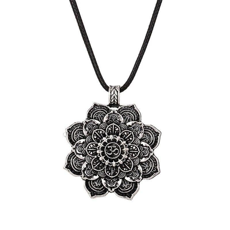 Women's Mandala Lotus Design Necklace