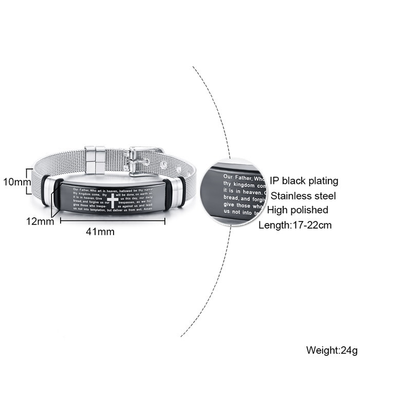 Unisex Adjustable Christian Bracelet