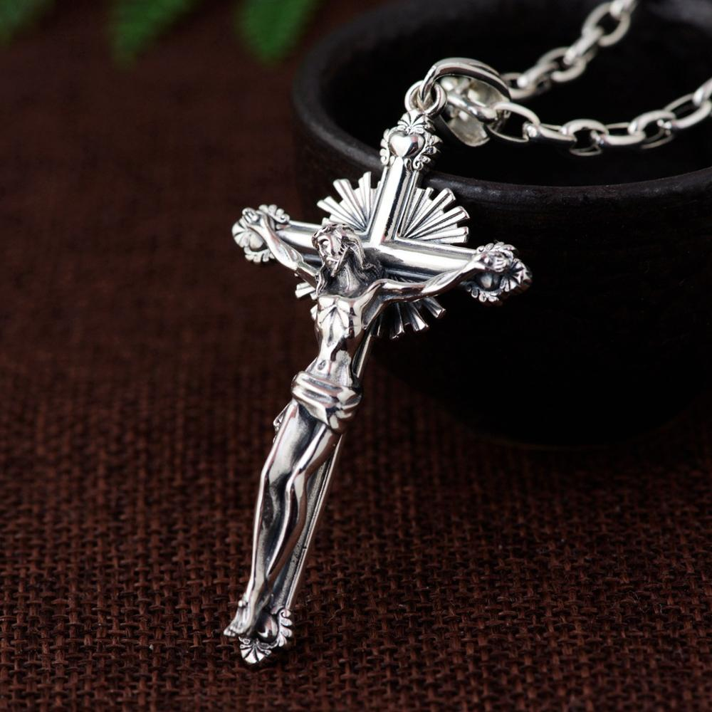 Unisex 925 Sterling Silver Christian Pendants