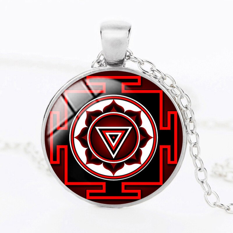 SUTEYI Drop Shipping Fashion Buddhist Necklace Sri Yantra Holy Sacred Geometry Necklaces & Pendants Handmade Crystal Jewelry