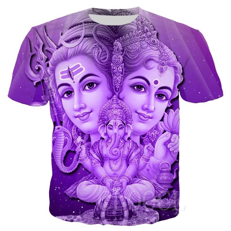 Hindu God Lord Shiva T Shirt Women Men 3D Print Lord Shiva T-shirts Tops Short Sleeve Casual Streetwear Pullovers Drop Shipping