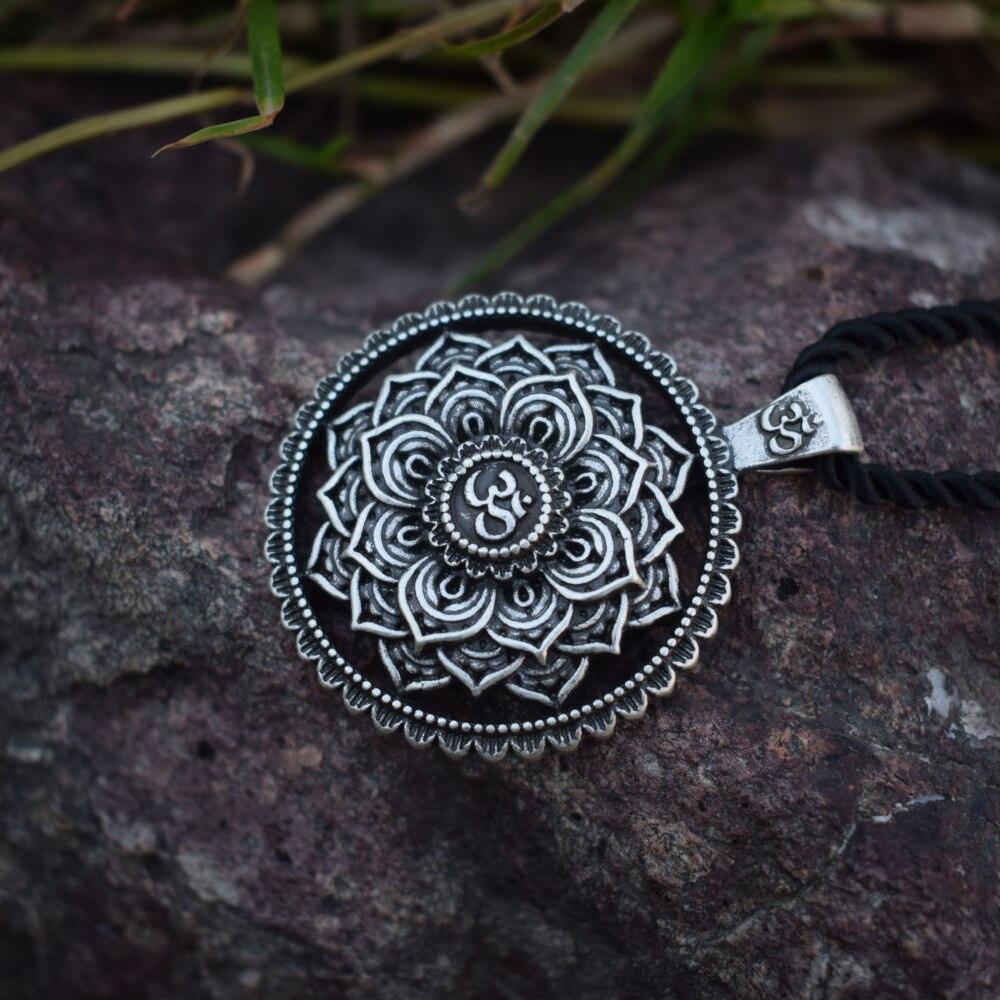 SanLan Brand indian mandala flower necklace mandala pendant zen yoga OM