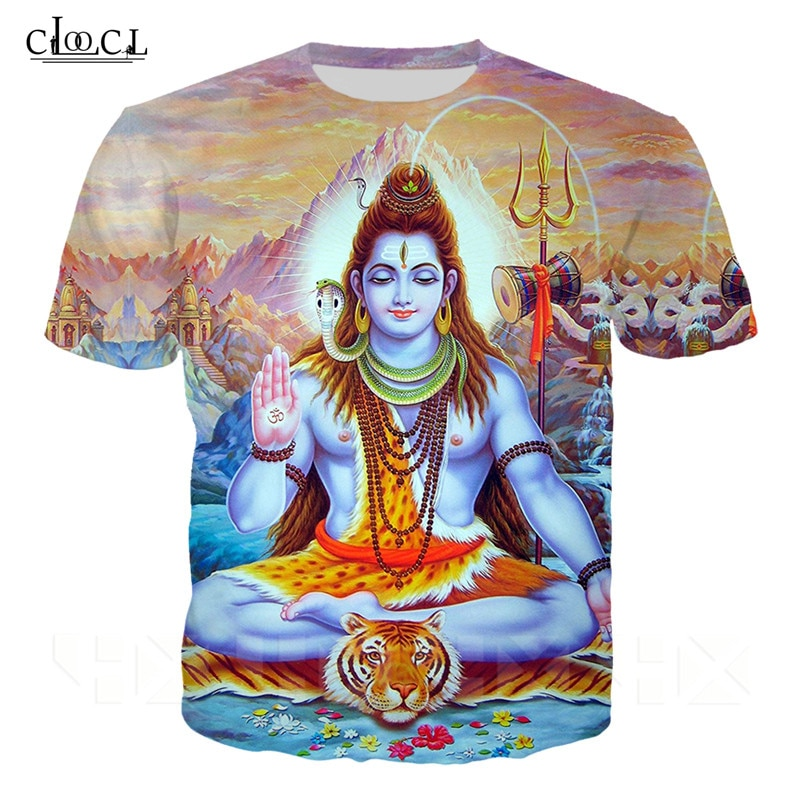 Indian Lord Shiva T Shirt Men Women 3D Print Fashion Clothing Lord Shiva T Shirt Harajuku Streetwear Tops Short Sleeve Pullovers